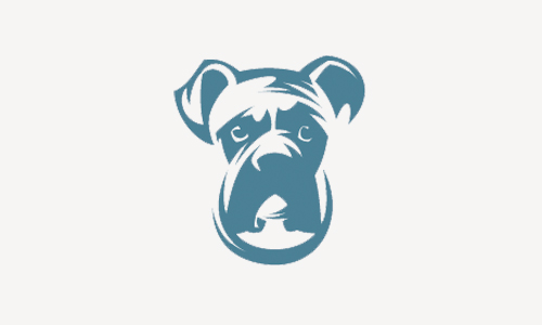 boxer dog logo