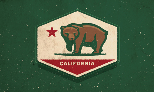 logo with california bear