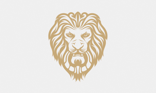 lion door knocker logo