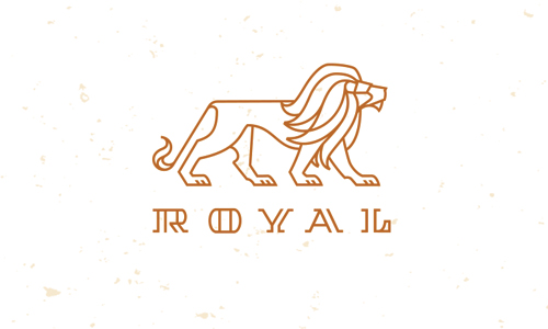 lion line drawing logo