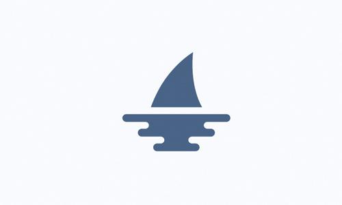 minimalist shark logo