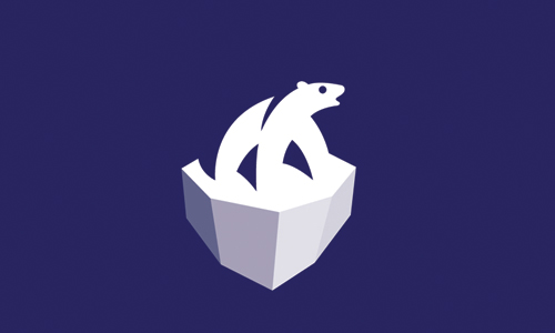 polar bear on ice logo